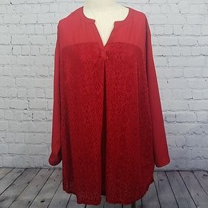 Liz Claiborne woman red blouse size 3x new